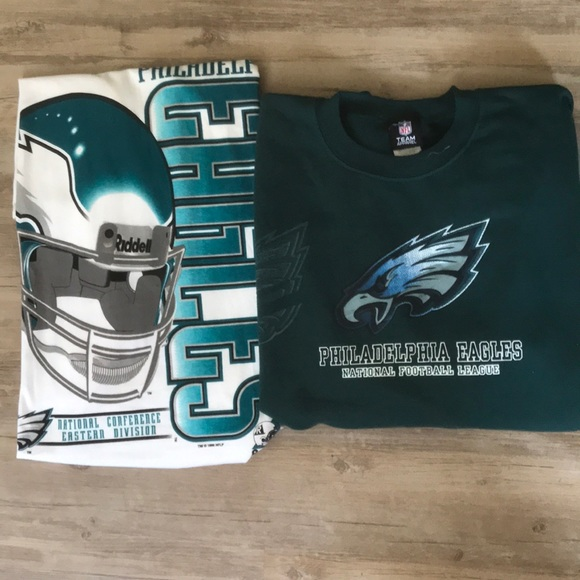official photos 1d7da 37022 Vintage Philadelphia Eagles NFL Fan Crew Neck 90s